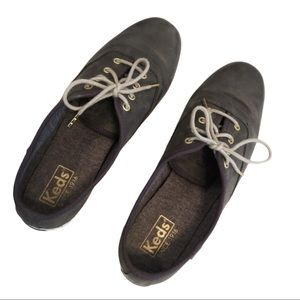 Keds classic grey leather sneakers